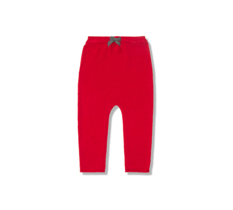 Marie Chantal Red Knit Leggings