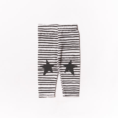 Noe & Zoe Baby Black Stripes Terry Leggings