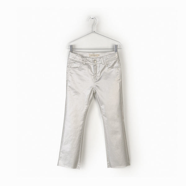 Andorine Silver Raw Edge Trousers