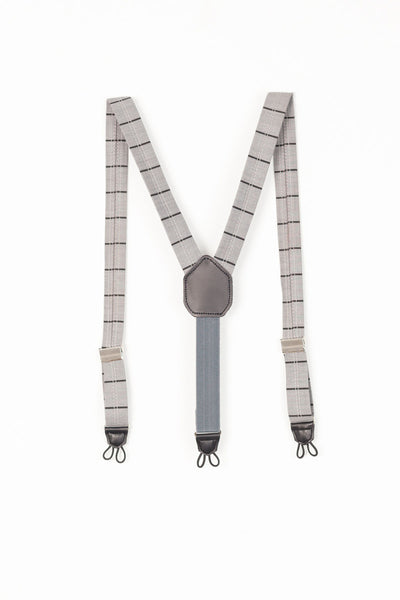 Motoreta Grey with Black Lines Suspenders