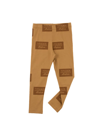 Tinycottons Brown Titicaca Badge Pant