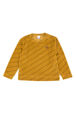Tinycottons Diagonal Stripes Plush Sweatshirt