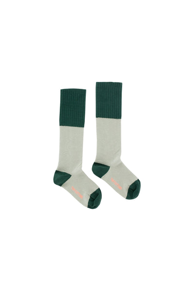 Tinycottons Dark Green Rice Loop High Socks