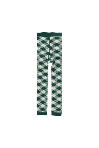 Tinycottons Dark Green Check Leggings
