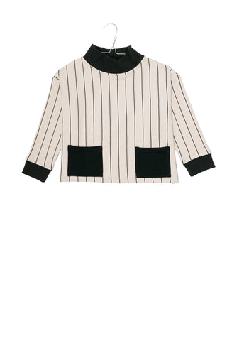 Motoreta Off White & Black Stripe Luca Sweatshirt
