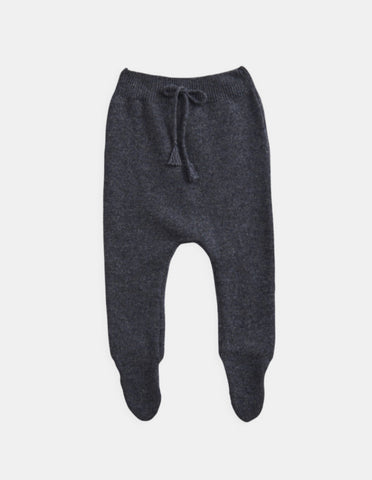 Belle Enfant Knit Graphite Marl Footed Leggings