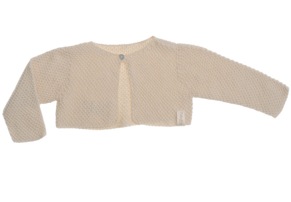 Naturapura Short Knit Cardigan Creme