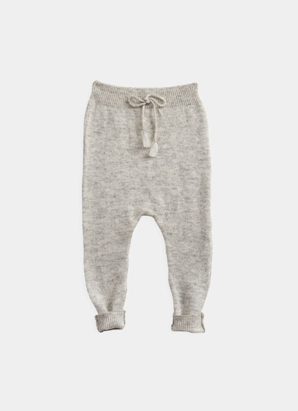 Belle Enfant Silver Grey Marl Footless Leggings