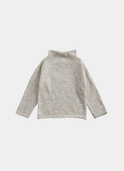 Belle Enfant Silver Grey Marl Funnel Sweater
