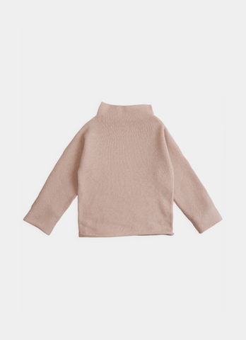 Belle Enfant Rose Funnel Sweater