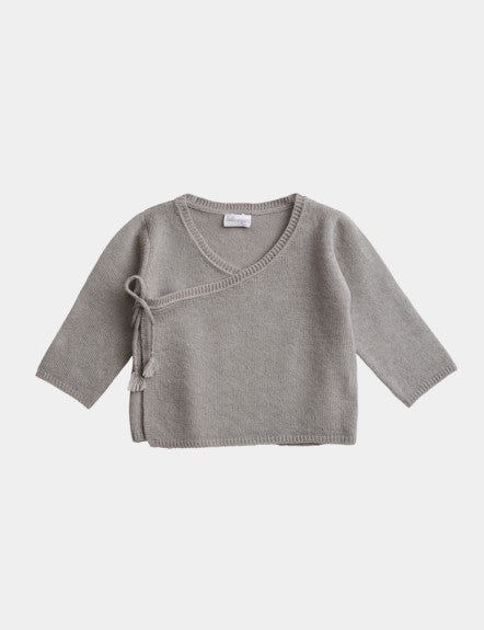Belle Enfant Knit Cloud Grey Wrap Top & Legging