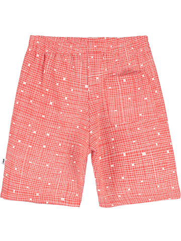 Beau Loves Red Grid Shorts