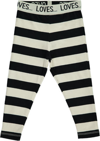 Beau Loves Black Stripes Slim Pants