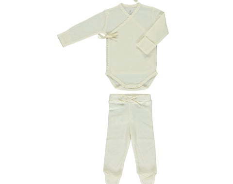Bebe Organic Natural Bebe Body Wrap & Legging Set