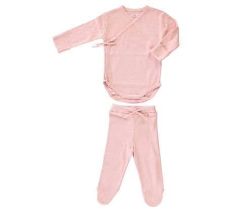 Bebe Organic Light Rose Bebe Body Wrap & Legging Set