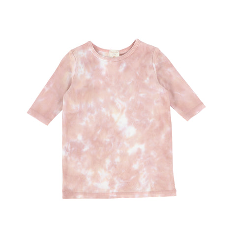 Lil Legs Blush Watercolor 3/4 Sleeve T-Shirt