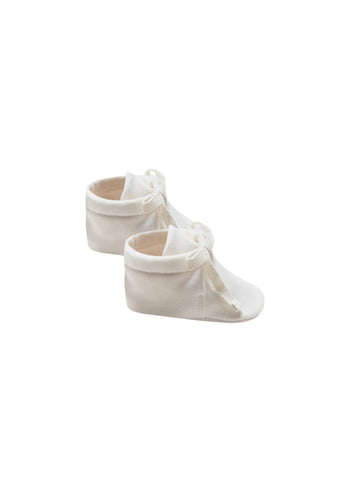 Quincy Mae Ivory Baby Booties