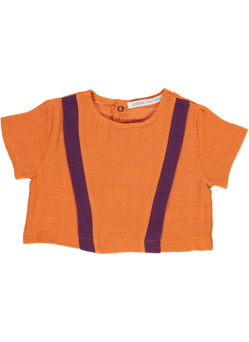 Carlota Barnabe Baby Top Orange Purple