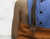 Carlota Barnabe Girls Top Orange and Blue