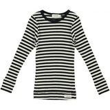 MarMar Copenhagen Black & Off White Stripe Modal PJ Set
