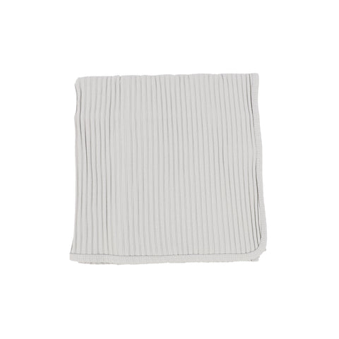 Lil Legs Cloud Grey Wide Rib Blanket