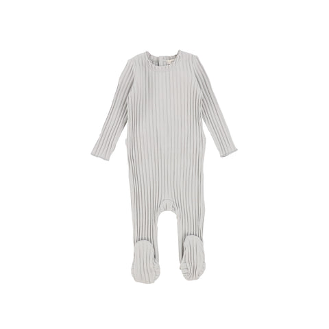 Lil Legs Cloud Grey Wide Rib Footie