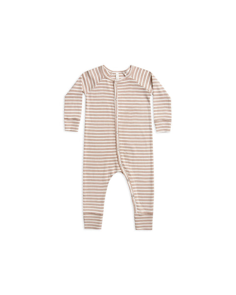 Rylee & Cru HC Truffle Stripe Ribbed Long John