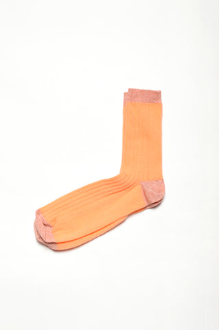 Leoca Coral Ribbed Socks