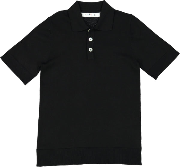 Coco Blanc Black Dressy Sweater Polo
