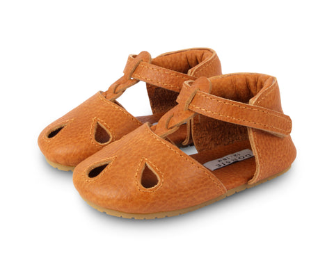 Donsje Amsterdam Toast Grain Leather Dudu Sandal