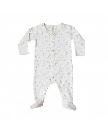 Quincy Mae Ivory Footed Onesie