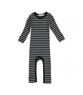 MarMar Copenhagen Black & Grey Romper Stripes