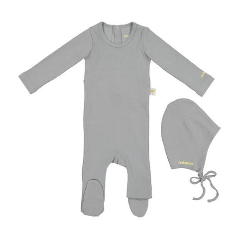 Zeebra Grey Ribbed Gift Set