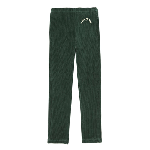 Hundred Pieces Green Velvet Legging