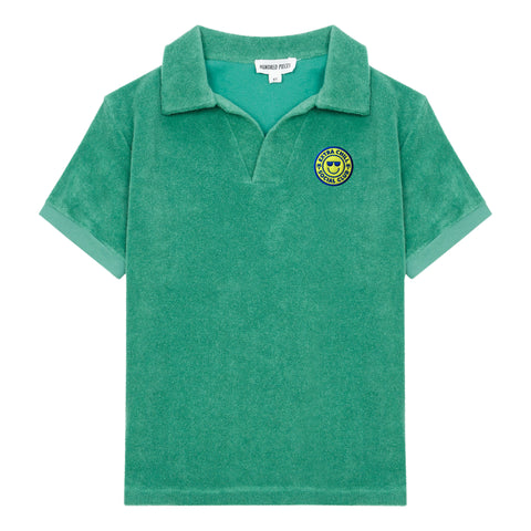 Hundred Pieces Green Terry Surf Shack Polo