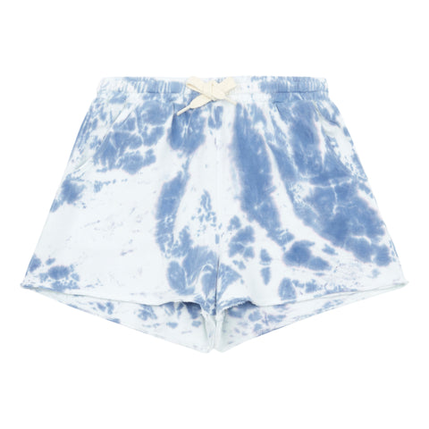 Hundred Pieces Blue Tie Dye Shorts