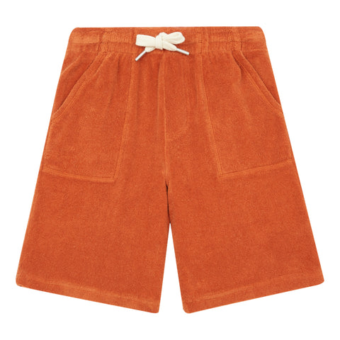 Hundred Pieces Orange Terry  Shorts