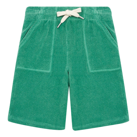 Hundred Pieces Green Terry  Shorts