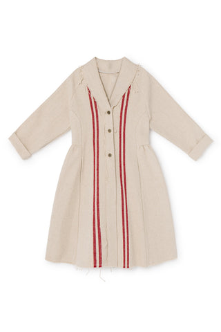 Little Creative Factory Red Stripes Hessian Coat