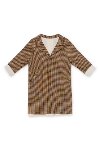 Little Creative Factory Fawn Tweed Straight Coat