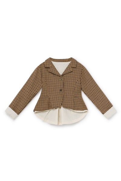 Little Creative Factory Fawn Tweed Jacket