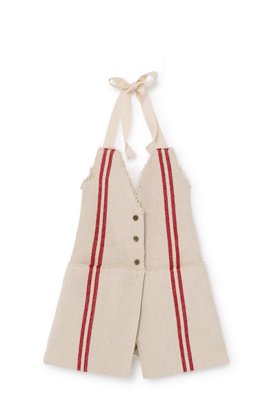Little Creative Factory Red Stripes Hessian Apron Dress