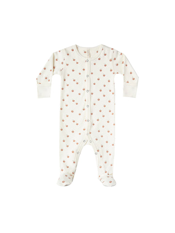 Quincy Mae Peaches Footed Onesie
