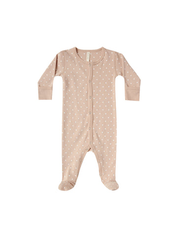 Quincy Mae Petal Heart Footed Onesie
