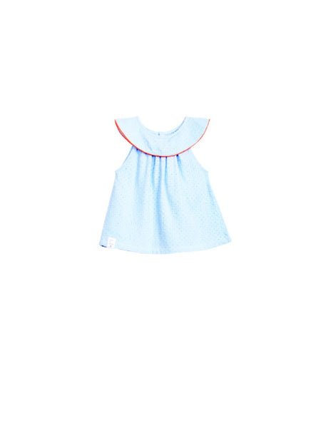 Oaks of Acorn Chambray Eyelit Bib Top
