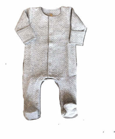 Dream Baby Layette Grey Small Quilt Onesie