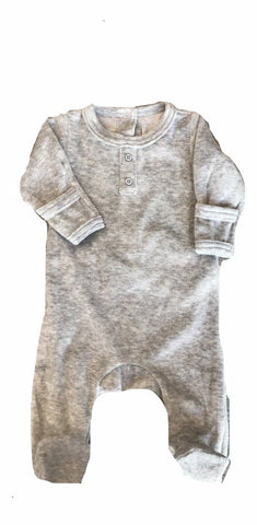Dream Baby Layette Grey Velour Onesie