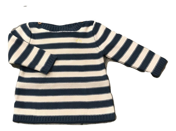 Nanos Blue Stripe Sweater