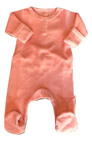 Dream Baby Layette Peach Velour Onesie