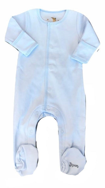 Dream Baby Layette Sky Blue Cotton Dream Onesie